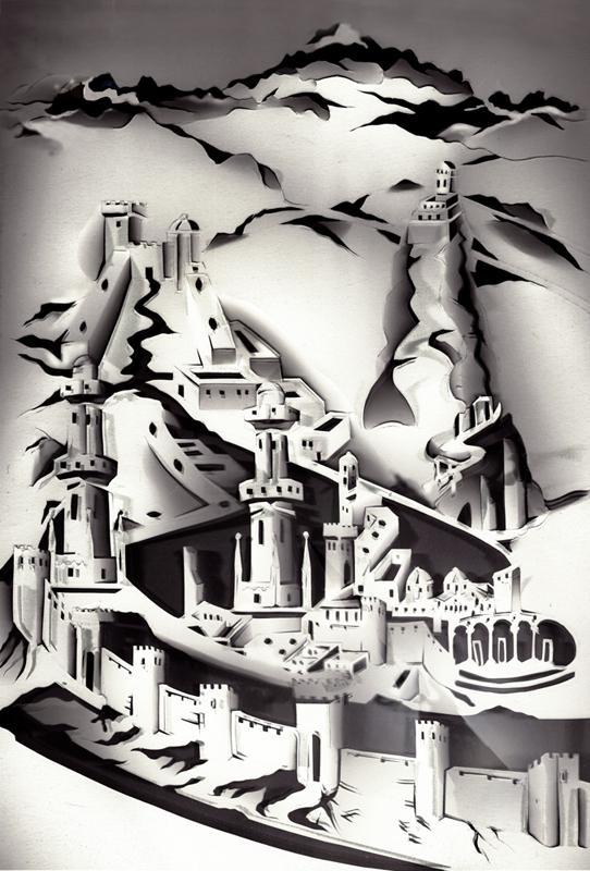 פלג דישוןFlood Detail_Scanned Paper Cutout_2012