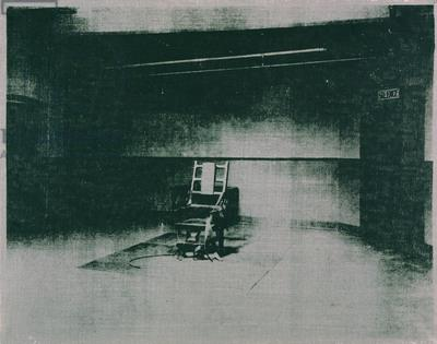 Andy Warhol, Electric Chair (Gray), Screenprinted synthetic polymer on canvas, 1964